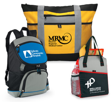 Hospital Staff recognition and appreciation bags, totes and cooler gifts for your dedicated staff