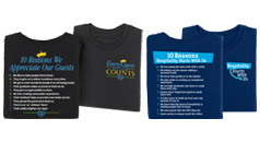 Click to see our International Housekeepers Week apparel products.