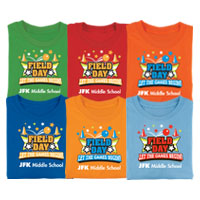 Field Day Let The Games Begin! personalized t-shirts