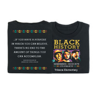 Black History: Remember, Educate, Celebrate Personalized T-Shirt
