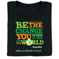 Be The Change You Wish To See In The World Personalized T-Shirt