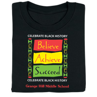 Black History: Believe, Achieve, Succeed Personalized T-Shirt