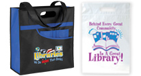 Library incentives, library bags, totes, coolers, backpacks, goody bags