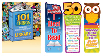 Library incentives, library bookmarks, activity books, library stationery, library educational tools