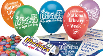 Library incentives, library decoration products, library festive balloons, library posters