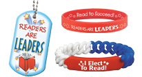Library incentives, library dogtags, library bracelets, library jewelry