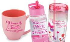 mothers appreciation drinkware gifts, mothers recognition drinkware gifts that will inspire faith and love