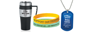 Salute America's Homefront Heroes with budget friendly gifts with our military themes