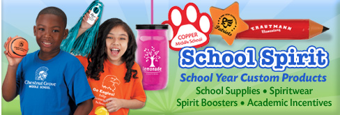custom school promotional products