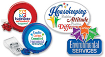 Shop our Environmental Services & Healthcare Housekeeping appreciation Badge holders and Lapel Pins