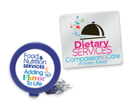 Reward your Healthcare Food Service Employees with these distinctive lapel pins. Each comes with a presentation card of praise!