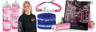 breast cancer awareness products, breast cancer awareness promotional, educational tools and custom products