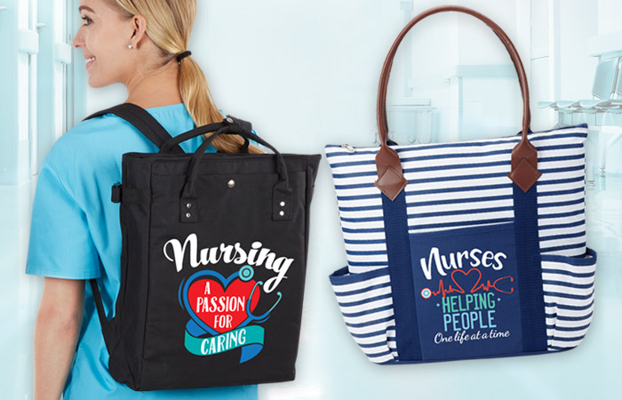 Nurses bags gifts of Recognition and Appreciation