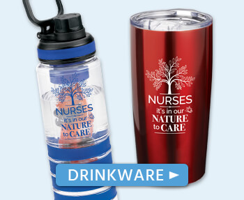 nurses appreciation drinkware gifts. recognition tumblers, water bottles, mugs gifts for nurses.