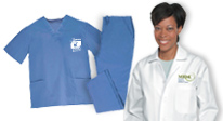 Delight your nurses with handsome apparel.  For leisure and professional wear.
