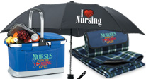 nurses appreciation outdoor gifts, nurses recognition outdoor gifts. nurses folding chairs, nurses cooler baskets, nurses blankets gifts.