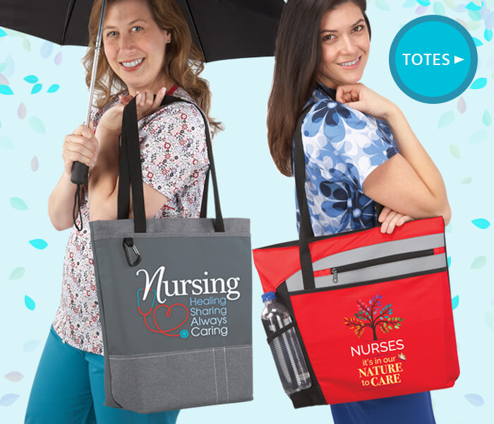 nurses appreciation totes. nurses recognition totes