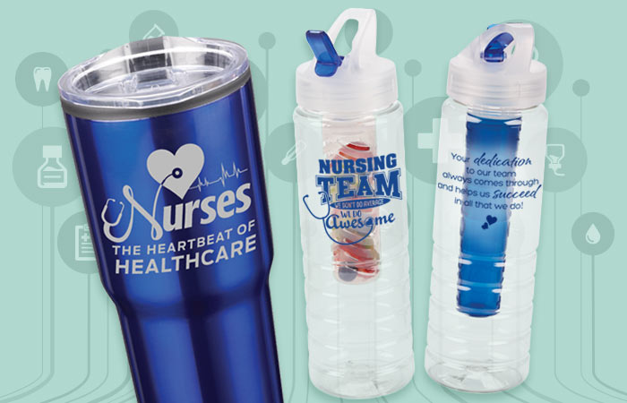 Click here to see our Nurses Appreciation Drinkware Gifts.