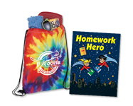 custom school spirit boosters, branded backpacks, personalized school supplies and apparel.