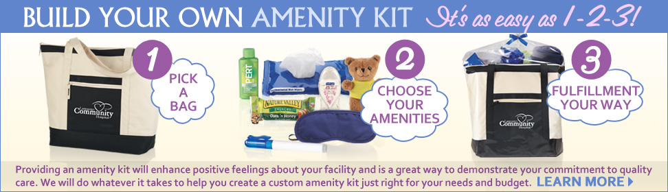 Click here to learn more about our custom amenity kits. our specialist will help build your custom amenity kit.