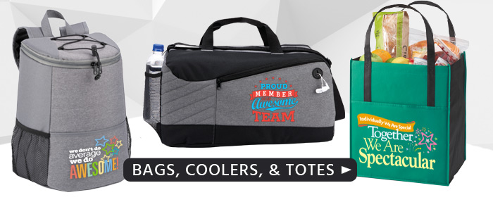 Shop our Employee Recognition appreciation bags, totes and coolers.