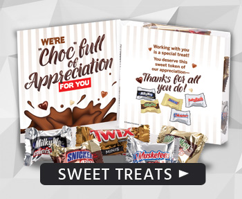 Say Thanks with sweets. Treat your valuable team members to tasty gifts of appreciation!