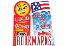 Red Ribbon & Bully Prevention Bookmarks, teach students to make positive choices with helpful anti-drug and ant-bullying tips
