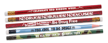 Place anti-drug messages in students' hands with our pencils with powerful awareness messages