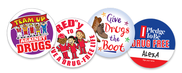 Add excitement to your event with our Red Ribbon Stickers, a great way to get kids involved.