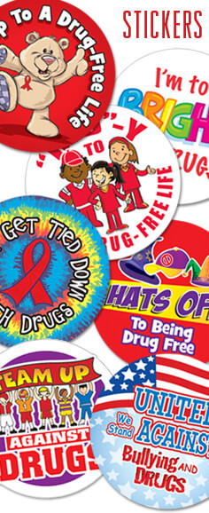 Add excitement to your event with our Red Ribbon & Bully Prevention Stickers, a great way to get kids involved.