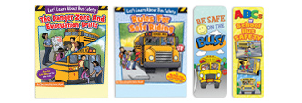 Educational Activities Books Teach Kids How To Be Safe, Responsible Bus Riders.