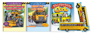 Educational Activities Books and Bookmarks Teach Kids How To Be Safe, Responsible Bus Riders.