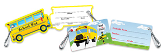 Keeping track of their bus information just got easier! Handy Bus I.D. Card clips right onto a jacket or backpack.