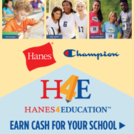 Earn cash for your school rebate, when you order Hanes or Champion apparel. Click to start earning