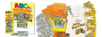 School bus safety value kits and packs, perfect for reinforcing safety rules
