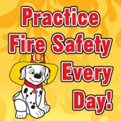 Practice Fire Safety Every Day Theme from Positive Promotions
