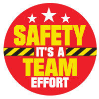 Safety A Team Effort Theme from Positive Promotions