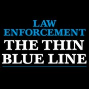 Law Enforcement The Thin Blue Line Theme from Positive Promotions