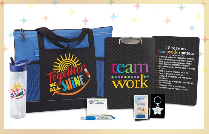 Teachers and staff appreciation raffle packs and gift sets. Celebrate and reward your staff