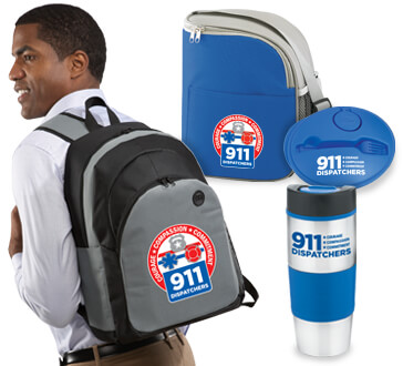 911 Dispatchers Courage Compassion Commitment theme gift products