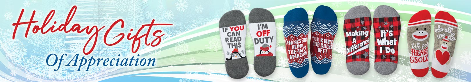 Holiday sock gift sets from Positive Promotions