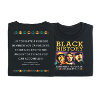 Black History: Remember, Educate, Celebrate T-shirt