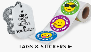 Test Taking Dog Tags and Stickers perfect incentives for motivation