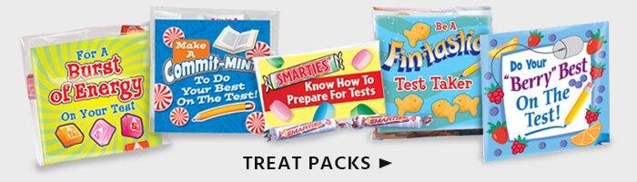 Test Taking treat packs provide energy bursts