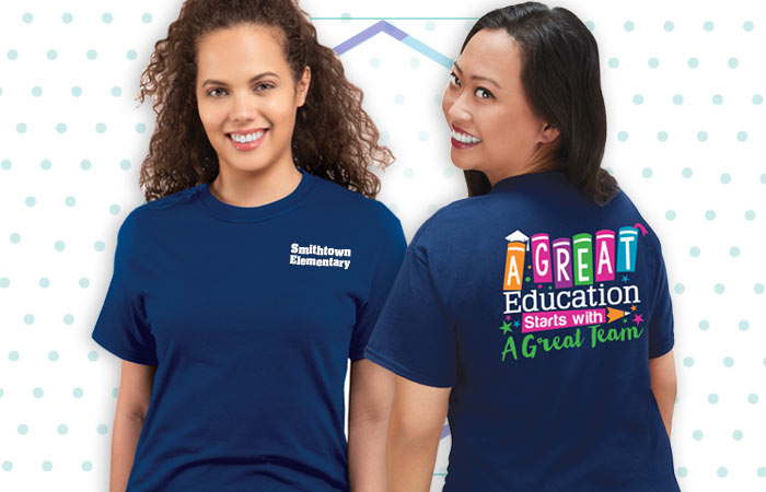 Teachers and staff Apparel appreciation and recognition gifts