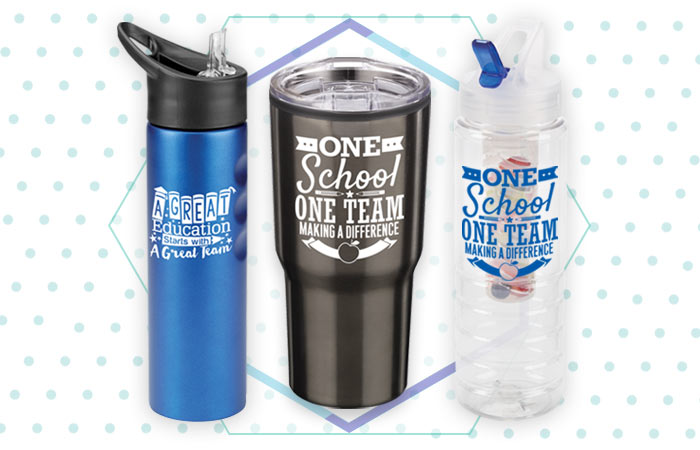 Teachers and staff drinkware appreciation and recognition gifts