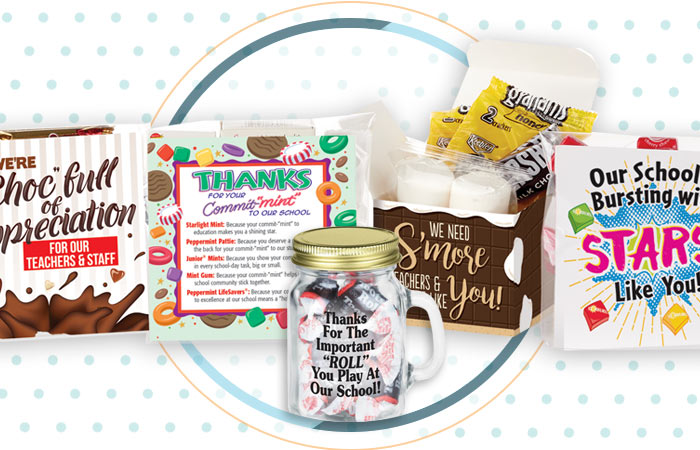 Teachers and staff snack packs appreciation and recognition gifts