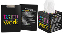 View all of our teamwork appreciation desk accessories, including notebooks, tissue dispensers & more.