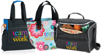 View all of our teamwork appreciation bags, including tote bags, shopper totes, & lunch bags.