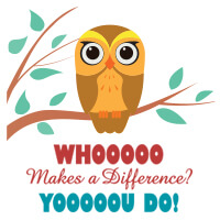 Whoooo Makes A Difference? Yooooou Do! theme products